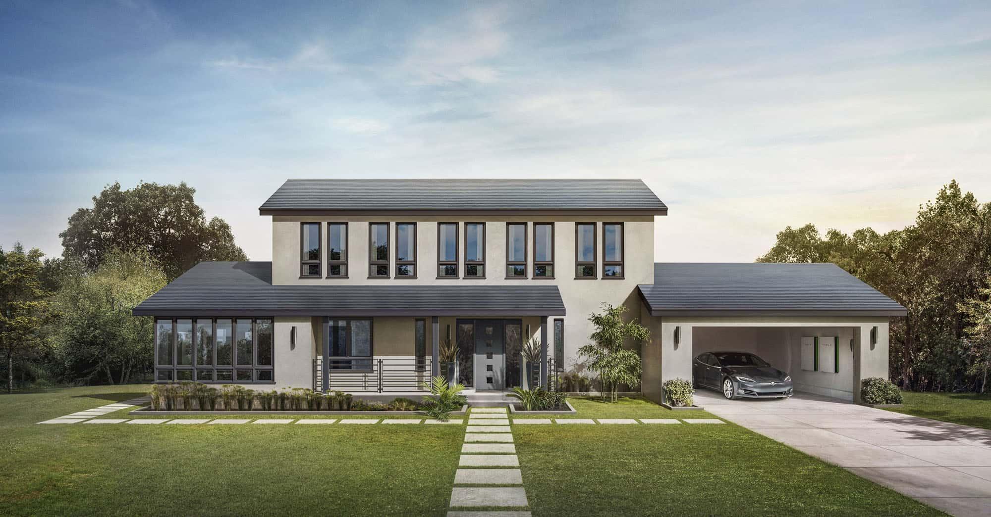 Solardachziegel von Tesla Solar und Elon Musk kommen!